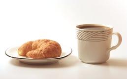 Café y croissant foto de archivo libre de regalías