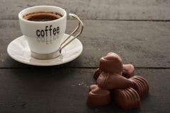 Café y dulces Foto de archivo libre de regalías