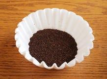 Café y filtro Fotografía de archivo libre de regalías