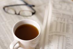 Café y finanzas fotos de archivo libres de regalías