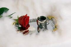 Café y flor Fotos de archivo libres de regalías