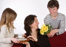 Café y flores Imágenes de archivo libres de regalías