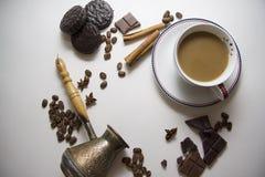 Café y fondo 33 del choco Fotografía de archivo libre de regalías