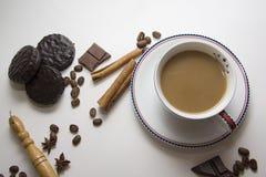 Café y fondo 38 del choco Imagen de archivo