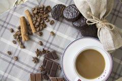 Café y fondo 30 del choco Foto de archivo libre de regalías