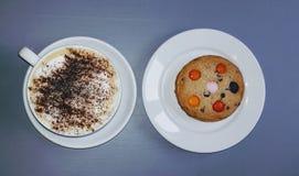 Café y galleta Fotografía de archivo libre de regalías