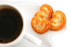 Café y galletas fotografía de archivo