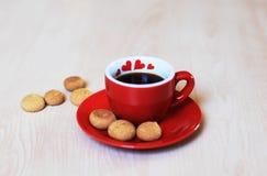 Café y galletas Fotografía de archivo libre de regalías