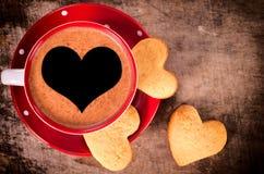 Café y galletas Fotos de archivo libres de regalías
