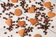 Café y galletas Foto de archivo libre de regalías