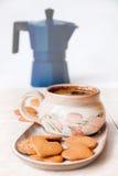 Café y galletas Imagen de archivo libre de regalías