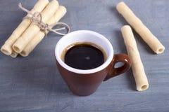Café y galletas Foto de archivo