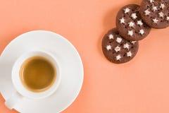 Café y galletas italianos Fotos de archivo libres de regalías