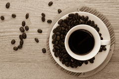 Café y granos de café Foto de archivo
