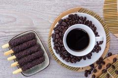 Café y granos de café Imagen de archivo