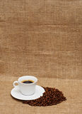 Café y habas Imagen de archivo