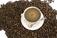 Café y habas Foto de archivo