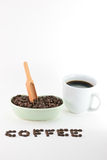 Café y habas Fotos de archivo