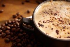Café y habas Imagen de archivo libre de regalías