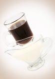 Café y leche imágenes de archivo libres de regalías