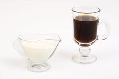Café y leche imagen de archivo