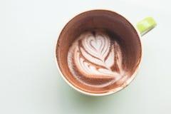 Café y leche con la taza Imágenes de archivo libres de regalías