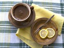 Café y limón Fotos de archivo libres de regalías