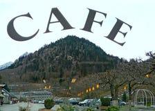Café y montaña Fotografía de archivo libre de regalías