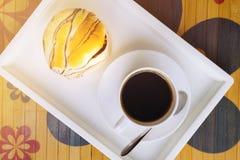 Café y pan Fotos de archivo