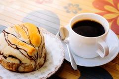 Café y pan Fotografía de archivo libre de regalías