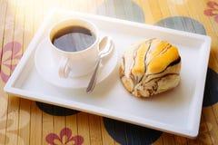 Café y pan Imagenes de archivo