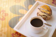 Café y pan Fotografía de archivo