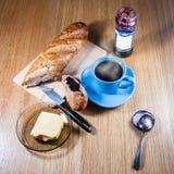 Café y pan Imagen de archivo