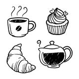 Café y panadería gráficos, vector stock de ilustración