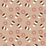 Café y panecillos Ejemplo plano Foto de archivo libre de regalías