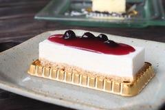 Café y pastel de queso Imagen de archivo libre de regalías