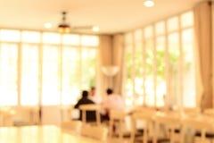 Café y restaurante interiores de la falta de definición Fotos de archivo