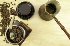 Café y su preparación fotos de archivo