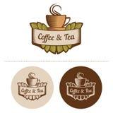 Café y té Logo Template Imágenes de archivo libres de regalías