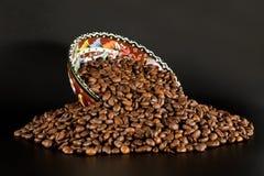 Café y tazón de fuente Imagen de archivo libre de regalías