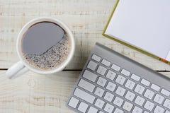Café y teclado Fotografía de archivo