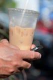 Café y texto helados Fotos de archivo