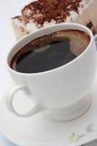 Café y tiramisu. Imágenes de archivo libres de regalías