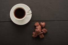 Café y top de los dulces Fotos de archivo