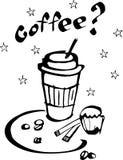Café y torta stock de ilustración