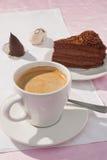 Café y torta Fotografía de archivo libre de regalías