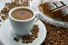 Café y torta Fotografía de archivo
