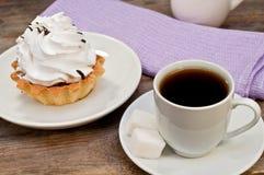 Café y torta Foto de archivo libre de regalías