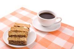 Café y torta Imagenes de archivo