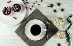 Café y torta Imágenes de archivo libres de regalías